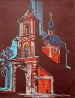 Колокольня Покровской церкви. 55х41. 2012 г.