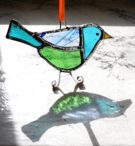 Морская чайка.  Витраж (8 см)