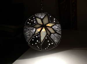 Рождественская звезда. Витраж, гравировка