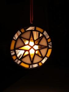 Рождественская звезда. Витраж.